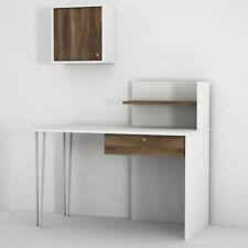 Schreibtisch Weiß Computertisch Kinder Bürotisch PC Arbeitstisch mit Schrank4845