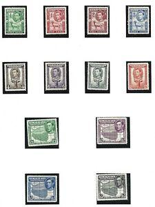 SOMALILAND  1938  S G 93 - 104  SET OF 12  MH  CAT £150
