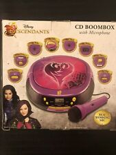 DISNEY DESCENDANTS CD & RADIO BOOMBOX W/ SING ALONG MICROPHONE - DE-M430.EX NEW!