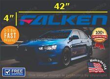 "FALKEN Tires Banner Windshield vinyl decal sticker 4""X42"" honda, evo chevy, ford"