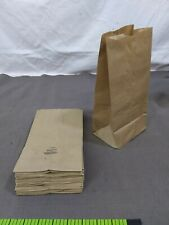 """45 lunch Grocery Bags 5 Lb brown paper Kraft 5"""" X 3.5"""" X 10.5"""""""