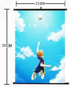 Anime Haikyuu high school volleyball Wall Poster Scroll Home Decor Cosplay 1031