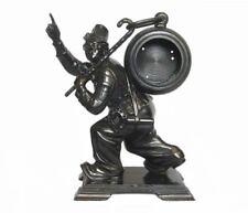 "10"" CLOWN CIRCUS RUSSIAN VINTAGE MOLNIJA DESK CLOCK CAST IRON KASLI FIGURINE"