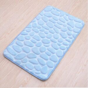 Mat Bathroom Embossed Non Slip Cobblestone Carpets Shower Room Doormat Foam Pad
