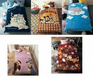 Disney Characters Smooth Texture Microfiber Blanket 140x200cm Fast Ship Japan