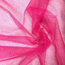 "Sparkle Glitter Tulle Fabric Wedding Decoration Craft Event 60"" - Fuchsia"