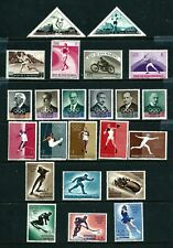 23 Stamps - San Marino 1953-1961 Sports & Olympics (1956 &1960)