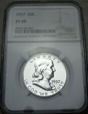1957 Proof Franklin Half Dollar PF69 NGC Proof PR 69 Rare Uncirculated