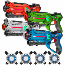 Lasergame Set: 4 Light Battle Active Laserpistolen + 4 Lasergame Vesten Kopen