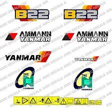 YANMAR B22 BAGGER-AUFKLEBER-AUFKLEBER-SATZ
