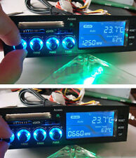 "Black 5.25"" LCD Panel Fan Speed Governor Controller CPU HD C/F Temp Sensor New"