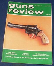 GUNS REVIEW MAGAZINE JANUARY 1987 - THE BROWNING A BOLT STALKING RIFLE