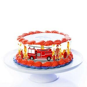 Tortenband Feuerwehr essbar - 4 Stück á 24cm x 5cm