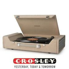 Crosley Nomad USB Portable Turntable CR6232A-BR With Build-in Stereo Speakers