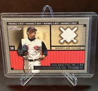 2002 Fleer Showcase Baseball's Best Ken Griffey Jr. SP Game Used Base Relic Reds