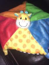 Mothercare Baby Safari Comforter Blankie Blanket Giraffe Black White spotty A4