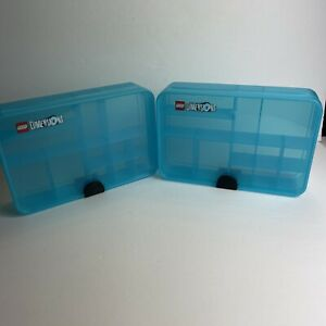 * Lego® Dimensions Gaming Capsule 4080 - Blue Storage Case Container Lot Of 2