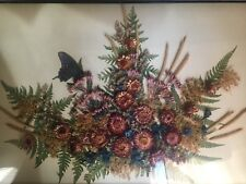Beautiful Dried Flower and Butterfly Display in Shadow Box by Frances Lakenan