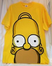 SIMPSONS HOMER GIANT FACE YELLOW LARGE T-SHIRT NEW