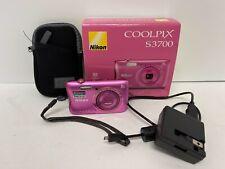 Nikon COOLPIX S3700 20.1MP Digital Camera - Pink