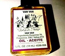 Van Van Oil Wicca HooDoo 1/2 Oz.  Aceite 14 mL #286-956 VAN VAN OIL Glass Bottle
