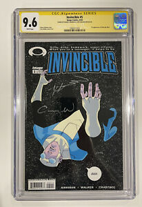 Invincible 5 CGC SS 9.6 - Signed By Kirkman and Walker - First Allen The Alien