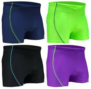 ACCLAIM Fitness Bathurst Boxer Trunks Mens Tie Nylon Lycra Swimming Seconds