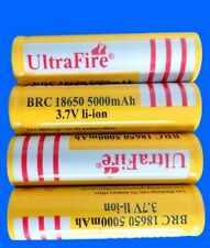 TOP 4x 5000 mAh 18650 Akku Batterien Wiederaufladbar Akku 18650 Lithium Ionen