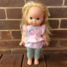 Vintage Li'l Miss Make Up Doll Mattel 1988 Original Bodysuit Shirt Blonde 13""