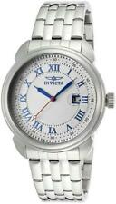 New Mens Invicta 15356 Silver Dial Blue Hands Arabic Numerics 43mm Classic Watch