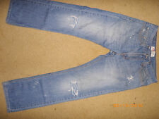 E LEVIS 514 custom destroyed slim straight JEANS 32 x 32