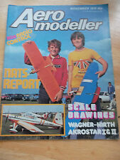 AEROMODELLER WITH RADIO CONTROL MODEL AIRCRAFT HOBBY MAG NOV 1979 AKROSTAR I  II