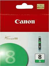 New Genuine BOX Canon CLI-8 Green Ink Cartridge PIXMA MP810 PIXMA MP830