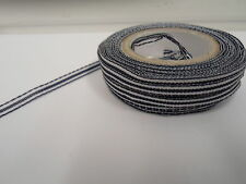 2 metres or full roll (25 metres) 5mm 10mm Pencil Stripe Ribbon UK VAT Reg
