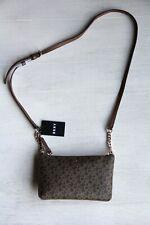DKNY Purse Brown Logo Extra Small Top Zip Crossbody Messenger Bag NEW