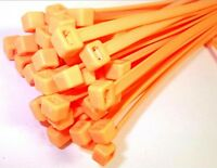Cable ties. 370 x 7.6mm. Fluorescent. Orange. Pack of 50. *Top Quality!