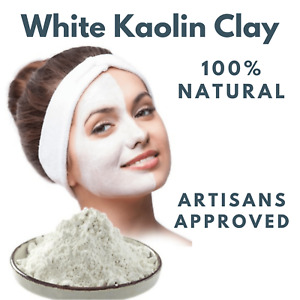 Organic White Kaolin Clay Powder Pure Natural Face Mask Skin and Hair Soap
