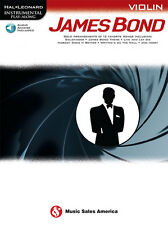 """""""James Bond"""" Instrumental Play-Along For """"Violin"""" Music Book/Audio Access-New!"""