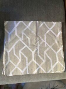 "(2) 84"" West Elm Geometric Curtains"