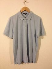 George Cotton Polo Top T Shirt Size M In Light Blue <R10717