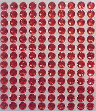 130 STRASS ADESIVI COLORE ROSSO 6 mm  CORPO UNGHIE NAILART DECORAZIONI