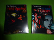 Empty Replacement 4 Disc Cases! Fear Effect 1 2 Helix Sony PSX PS1 PS2 PS3
