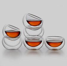 30ml Heat Resistant Double Wall Dual Layer Glass Tea Cup Chinese Kongfu Mug