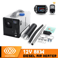 Warmtoo All In One 12V 8KW Diesel Air Heater Upgrated Switch 4-Tunnel Remote