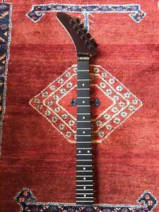 ESP Kramer Fender Strat Banana Nana Ebony Project Guitar Neck Reverse Headstock