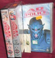 VHS MANGA CYBER PUNK,AD POLICE,SERIE COMPLETA ANIME INEDITO DVD bubblegum crisis