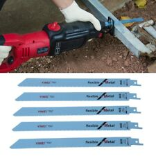 """S1122BF Reciprocating Sabre Saw Blades 227mm 9"""" 5 Pcs For Metal & Wood Cutting"""