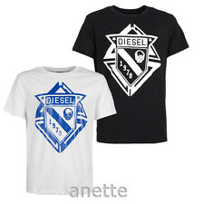 DIESEL T-SCOD Mens T-Shirt Branded Graphic Scull Cotton Black or White BNWT