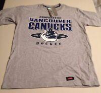 NWT Vancouver Canucks Waves NHL Hockey Small Short Sleeve Shirt - 100% Cotton