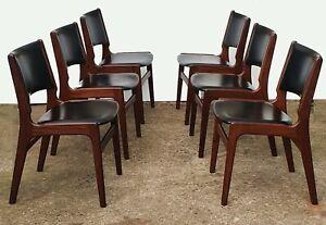 Set of 6 Danish Dining Teak Chairs by Johannes Andersen for Uldum Mobelfabrik